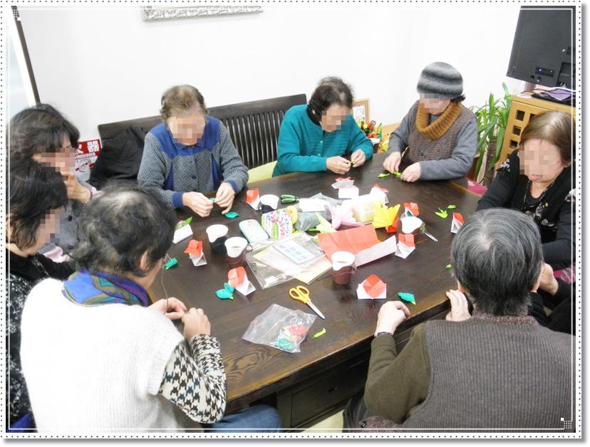 折り紙教室 ~椿を作ろう~