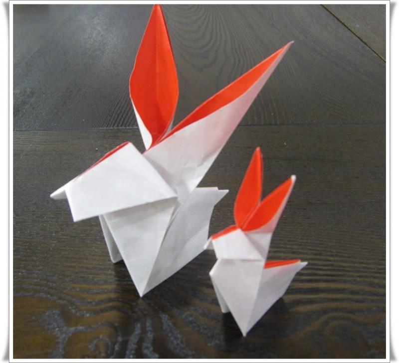 折り紙講座うさぎ