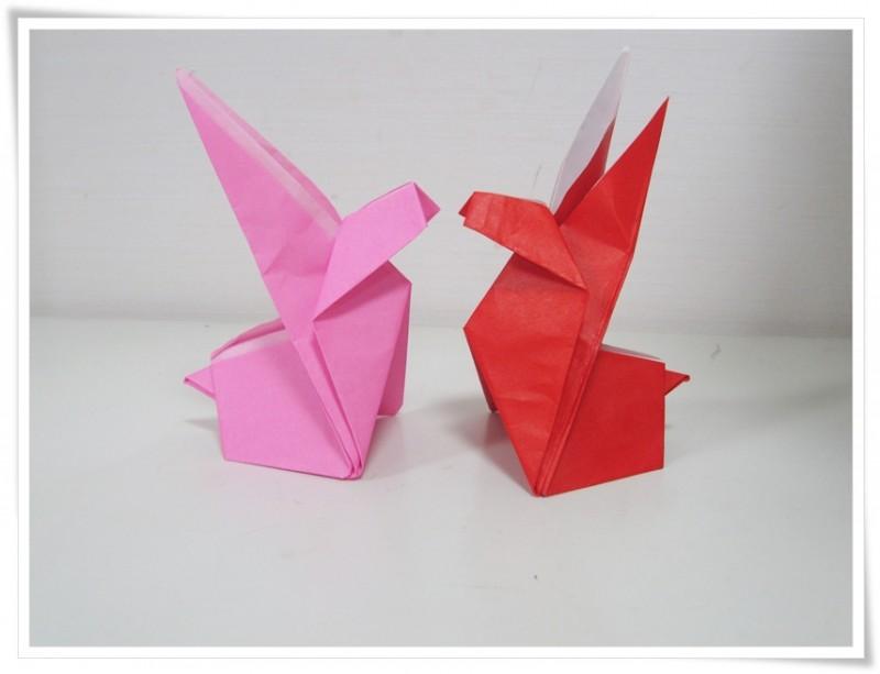 折り紙講座 ウサギ・メモ用紙立てを作ろう