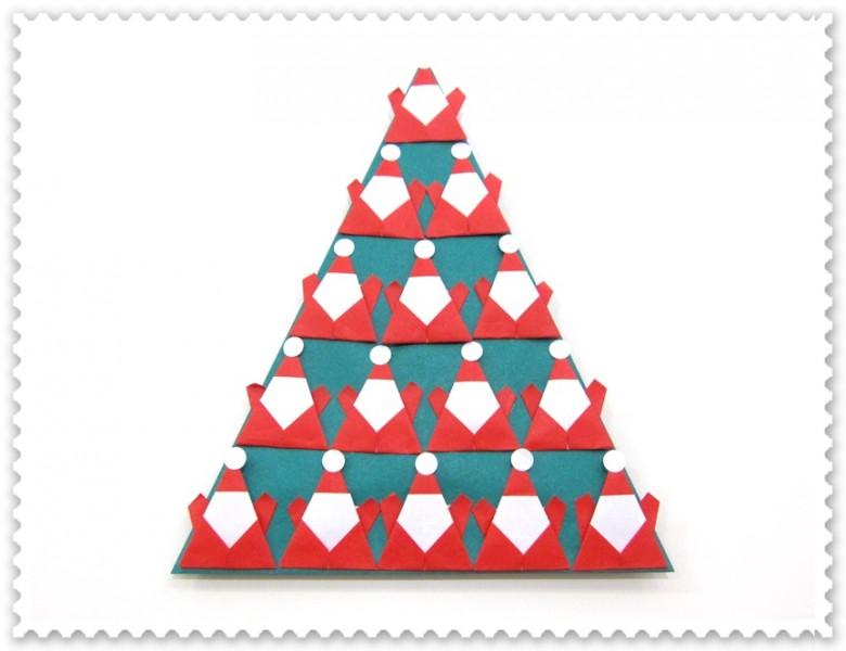 折り紙講座 ~クリスマスツリーを作ろう~