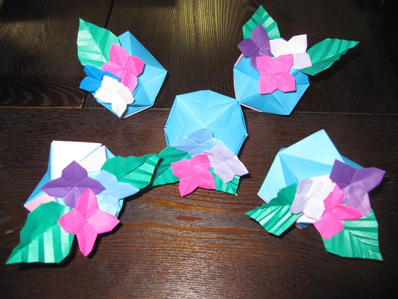 折り紙講座 ~あじさいを作ろう~