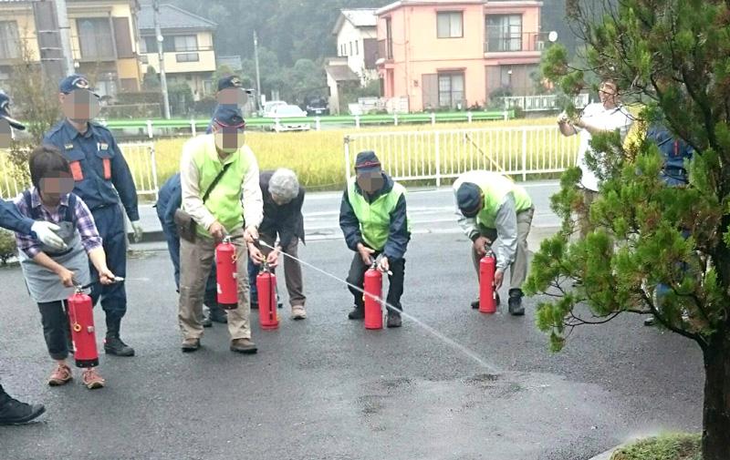 下小山田町内会の防災訓