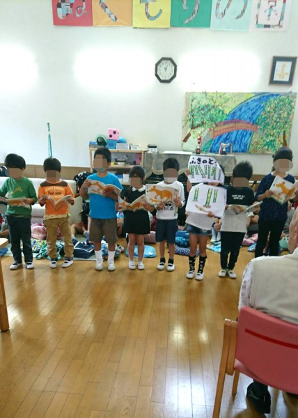 今年も小山田小学校の二年生がデイサービスに交流に来てくれました☺