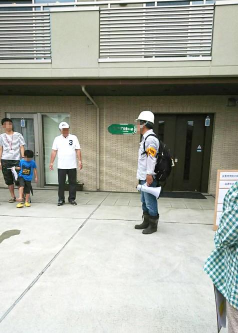 清住平自治会の避難訓練