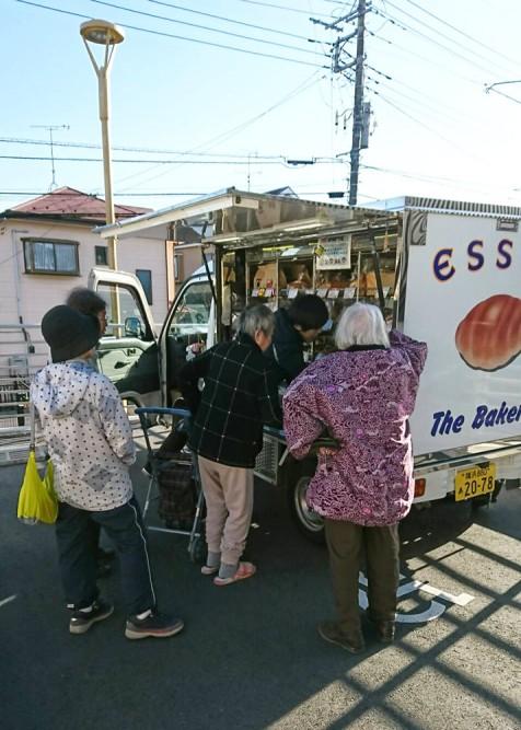 移動パンやさんが、清住の杜町田の駐車場に来ました