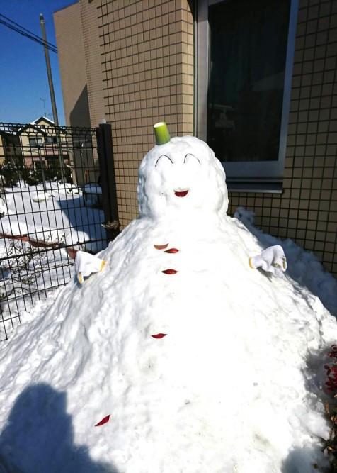 巨大雪だるまが出現