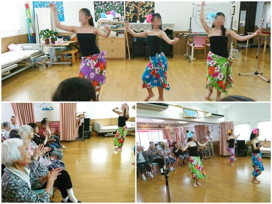 町田工業高校のフラダンス部の訪問