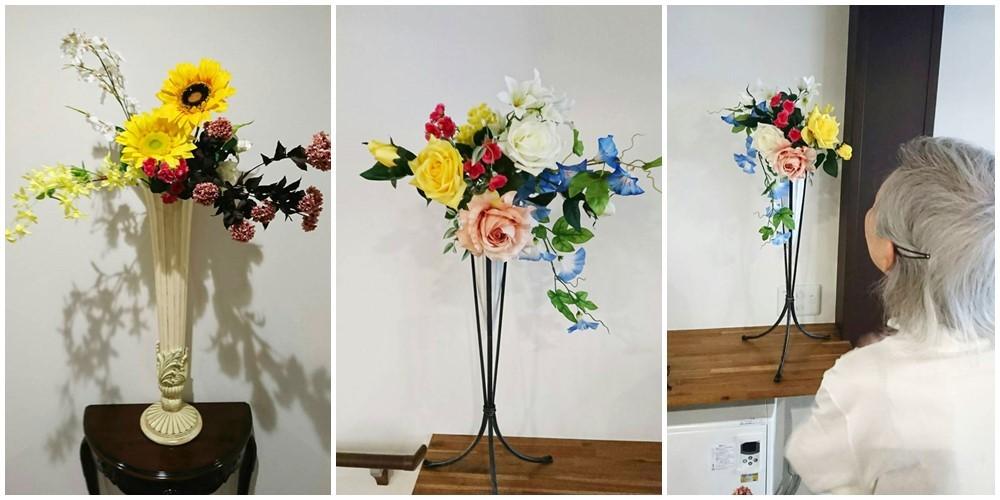 お花を夏バージョンに