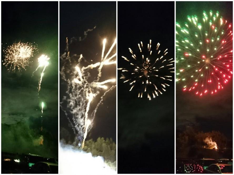 多摩丘陵病院 近くで打ち上げ花火