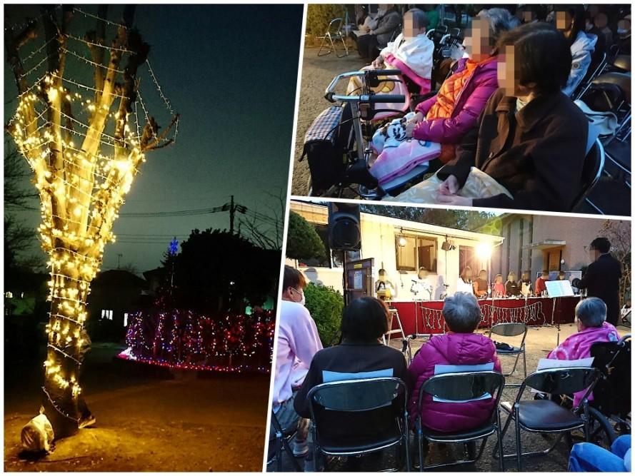 バット博士記念ホームのクリスマスイルミネーション点灯式