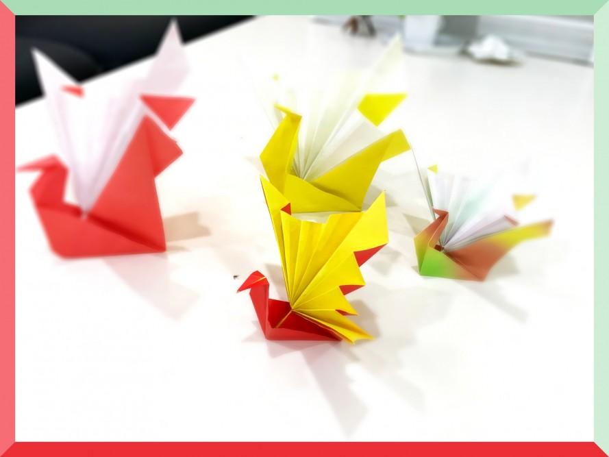12月15日土曜日に行われた折り紙教室