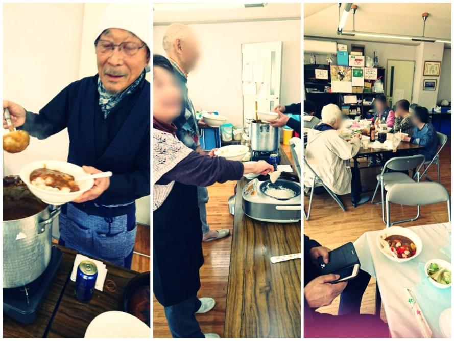 山崎の老人会、カワセミ会の月一カレー食堂に行って来ました