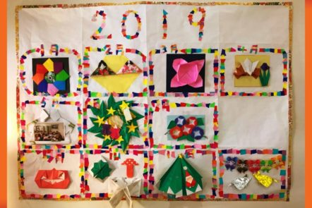 昨年の折り紙教室で作成した作品