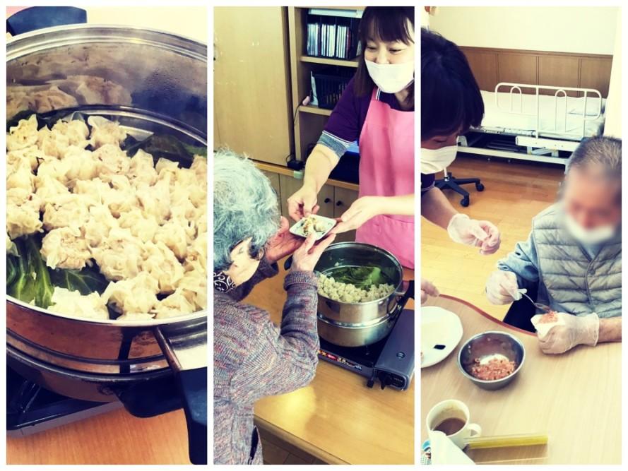 調理レクリエーションで焼売作りを行ないました。