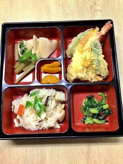 天ぷら&たけのこご飯
