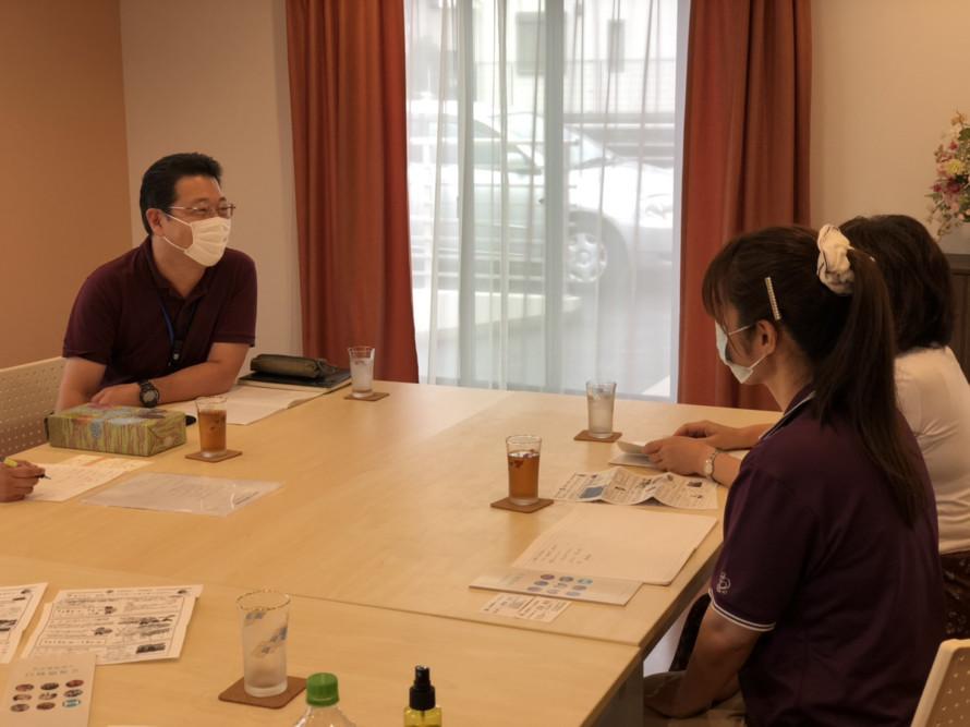 白峰福祉会さんと訪問介護共生型サービスについて、意見交換