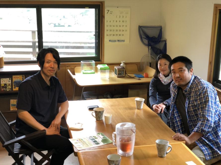地域の農家竹村さんと農福について打ち合わせ