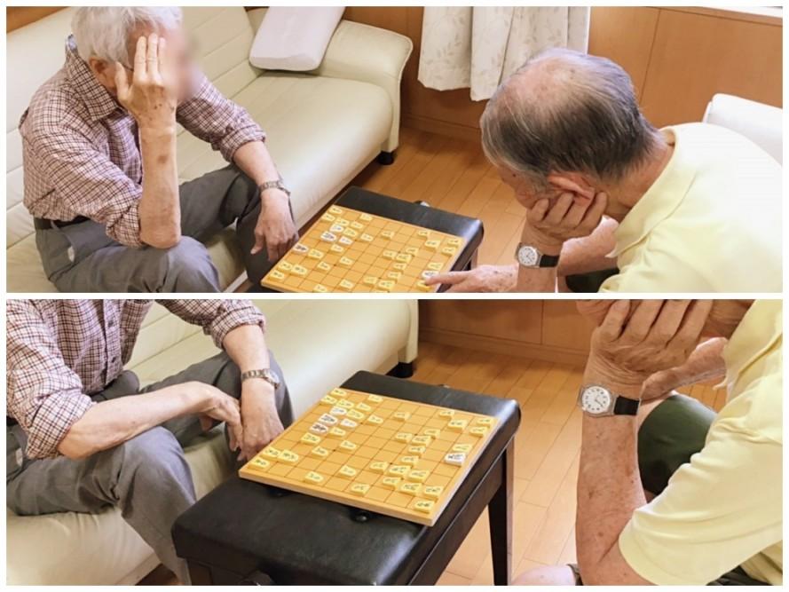 昔から将棋好きというお二人が真剣勝負をされました。