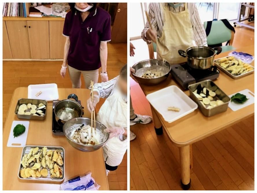 天ぷらうどん作りを開催しました。