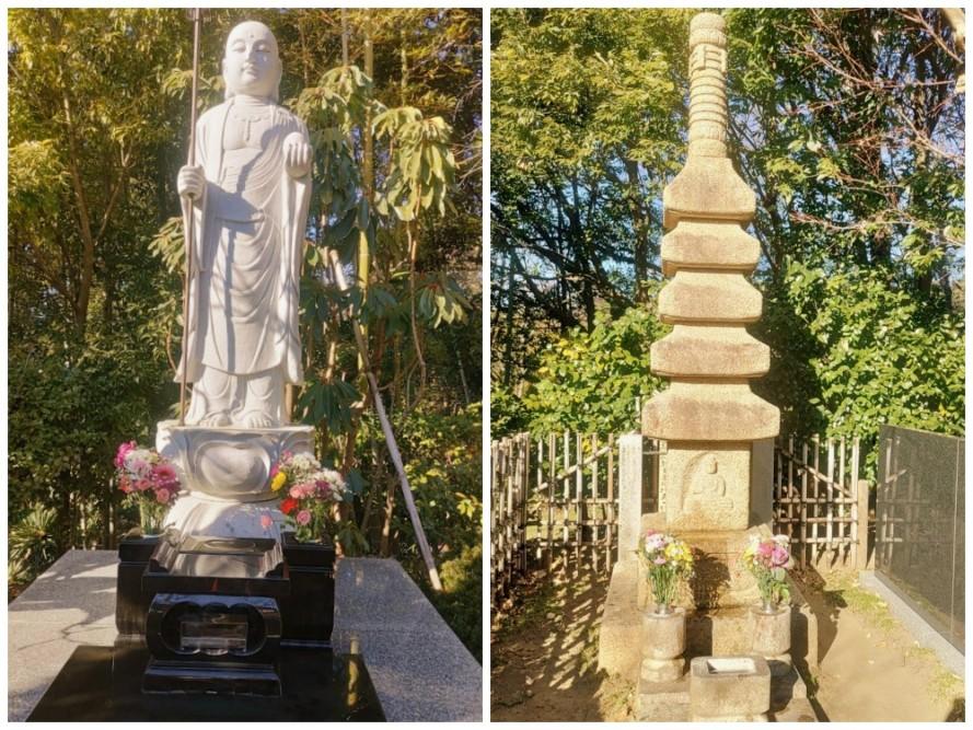 新年、気持ち新たに、嘉祥会の合祀墓のお参りに行きました